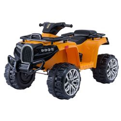 Electric Ride-On Quad ALLROAD 12V, naranja, enormes ruedas EVA suaves, 2 x 12V, motor, luces LED, reproductor de MP3 con USB, batería 12V7Ah