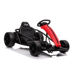 DRIFT-CAR 24V, rojo, ruedas lisas Drift, motor 2 x 350W, modo Drift a 18 km / h, batería 24V, construcción sólida