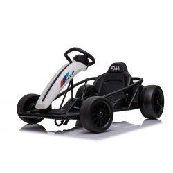 DRIFT-CAR 24V, Blanco, ruedas lisas Drift, motor 2 x 350W, modo Drift a 18 km / h, batería 24V, construcción sólida