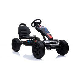 FORD Go Kart - Coche de pedales con ralentí, negro, ruedas Eva, licencia ORIGINAL