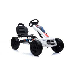 FORD Go Kart - Coche de pedales con ralentí, blanco, ruedas Eva, licencia ORIGINAL