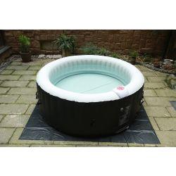 BeneoSpa, Jacuzzi, Spa hinchable burbujas, 4 personas 800 litros, Blanco negro