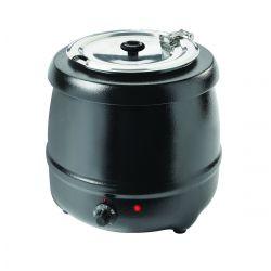 Caldera para sopa, exterior con recubrimiento de polvo negro, 35 ° C - 80 ° C, 6 posiciones de termostato, 400 vatios, 10L