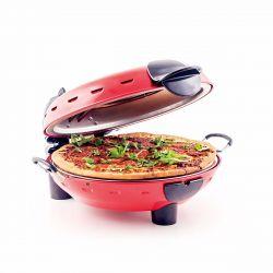 Richard Bergendi Stonebake Pizza Oven - Horno para pizza, Cocina de piedra caliente de pizza con ventana, Rojo