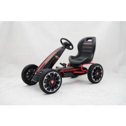 ABARTH Gokart - Coche de padales con ralentí del motor ,negro, ruedas Eva, garantía