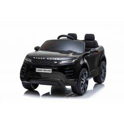 Eléctrico Ride-On Range Rover EVOQUE, negro, doble asiento de cuero, reproductor de MP3 con entrada USB, unidad 4x4, batería 12V10Ah, ruedas EVA, ejes de suspensión, arranque con llave, control remoto Bluetooth 2.4 GHz, con licencia