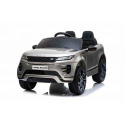 Eléctrico Ride-On Range Rover EVOQUE, pintado de gris, doble asiento de cuero, reproductor de MP3 con entrada USB, unidad 4x4, batería 12V10Ah, ruedas EVA, ejes de suspensión, arranque con llave, control remoto Bluetooth 2.4 GHz, con licencia
