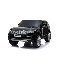 Range Rover Eléctrico, Negro, Asiento Doble De Cuero, Pantalla LCD Con Entrada USB, Unidad 4x4, Batería 2 x 12V 7Ah, Ruedas EVA, Ejes De Suspensión, Arranque Con llave, Control Remoto Bluetooth 2.4 GHz