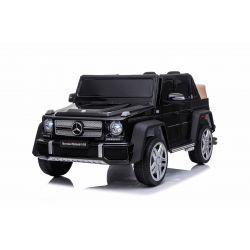 Paseo eléctrico en automóvil Mercedes G650 MAYBACH, negro, licencia original, batería de 12V, puertas de apertura, motor 2 x 25W, control remoto de 2.4 Ghz, ruedas Soft EVA, suspensión, arranque suave, reproductor de MP3 con entrada USB / SD