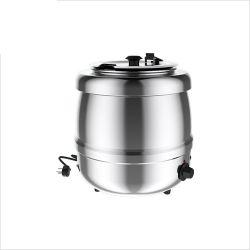 Caldera para sopa, exterior de acero inoxidable, 35 ° C - 80 ° C, 6 posiciones de termostato, 400 vatios, 10L